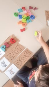Moveable alphabet puzzle diy. Photo by Suzannah Fernandes 2020