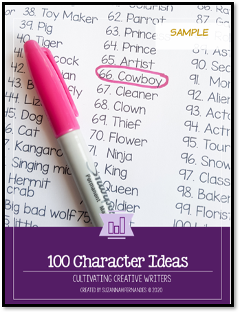 100 character ideas for stories. suzannahfernandes.com character ideas generator