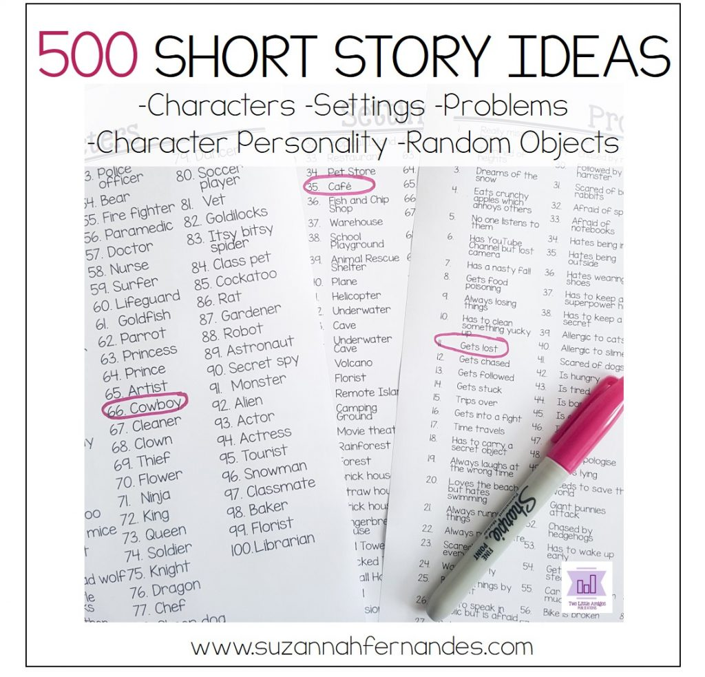 500-short-story-ideas- elementary-primary www.suzannahfernandes.com